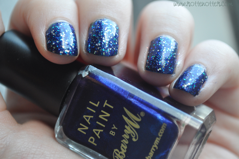 barry m navy nail polish opi last friday night notd layered 01