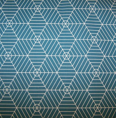 Hexagon Webs in Teal Halloween Fabric