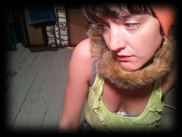 {Danielle Boone™} faux foxtail hunting cap exclusively designed by Madam Chino!