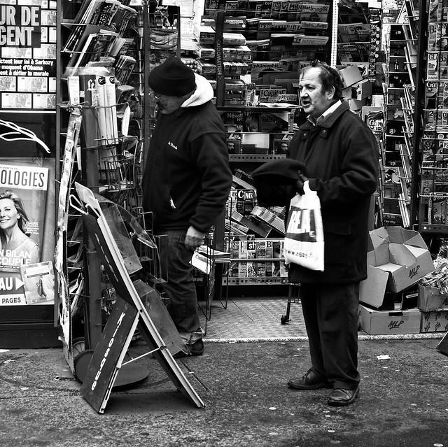 Au kiosque des journaux