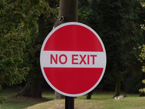 St Johns Hotel, Warwick Road, Solihull - No Exit sign