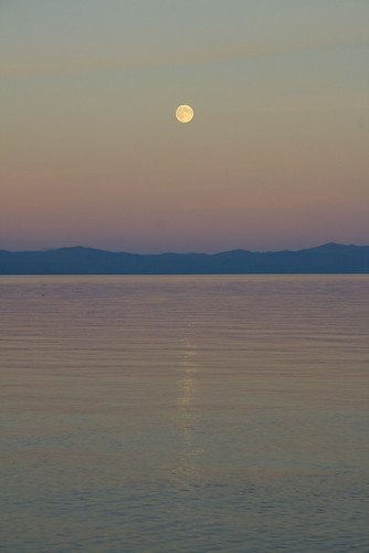 Moonrise over the Salish Sea