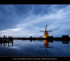 Hm and the Mill (nldazuufotografeert.com) Tags: en holland thanks zonsondergang nederland wolken wim van lucht kinderdijk aline landschap molens zuidholland onweer zilver alblasserdam hollandslandschap weert werelderfgoed blauweuur