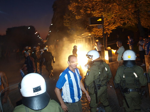 "Reporters Sans Frontiers on reporting in Greece: ""Photographers and cameramen are more and more at risk as they encounter situations akin to civil war"" by Teacher Dude's BBQ"