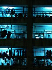 P1017073 (Hoichen) Tags: blue night hongkong olympus contax 50mmf14 carlzeiss e500 tplanar
