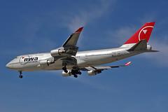 Northwest 747-400  N666US (chrisjake1) Tags: northwest aircraft airplanes detroit 747 airliners dtw northwestairlines 747400 744 b747400 b744 kdtw n666us