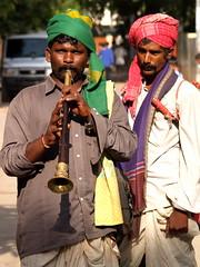 Indian Street Musician playing Sannai - #15092011-P9150788 (photographic Collection) Tags: street musician india indian olympus photographic collection ap sep e300 turban hyderabad andhra 15th pradesh evolt andhrapradesh 2011 sarma kalluri sannai bheemeswara bkalluri bheemeswarasarmakalluri