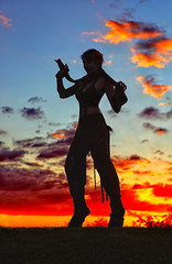 Faun Anna Von Winter Silhouette! (gbrummett) Tags: sunset beautiful colorful pretty grant silhoutte faun beautifl brummett img0458 canoneos5dmarkiicamera annavonwinter canonef2470mmf28lzoomlens