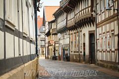 Medieval Laneways (whitworth images) Tags: street wood old houses white heritage architecture buildings germany town wooden europe village timber painted medieval historic lane cobbles leaning narrow crooked halftimbered goslar 16thcentury lowersaxony