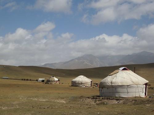 Kyrgyz yurts.