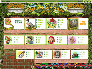 Secret Garden Slots Payout