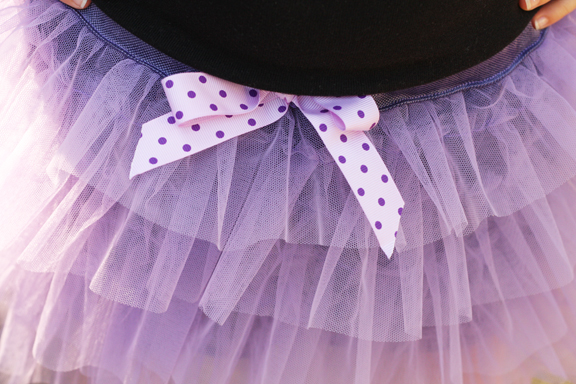 lilac tulle skirt detail