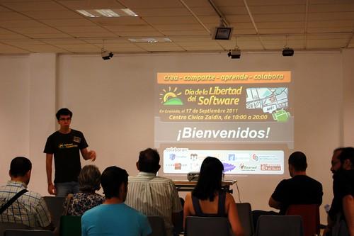 Manuel Martín presentando el SFD
