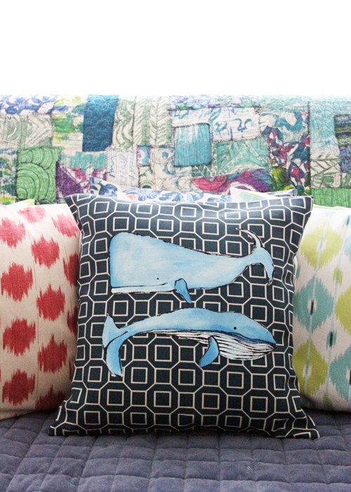 no sew whale pillow