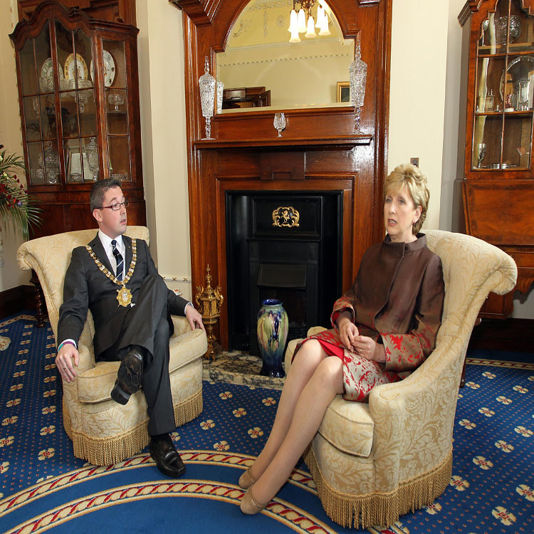 President of Ireland Mary McAleese visit to Belfast City Hall