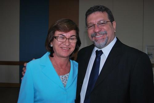 Neusa e o Ministro Afonso participaram do lançamento da Segunda etapa do Água para Todos