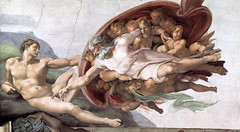 Adam (John Larmon) Tags: adam art history photoshop funny god humor chapel creation michelangelo renaissance sistine