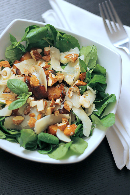 Butternut Squash, Parmigiano Cheese and Almonds
