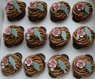 Little bird cupcakes by Cotton and Crumbs