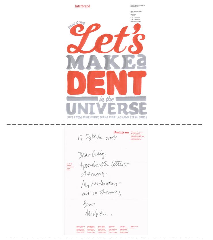 Hand written letter project