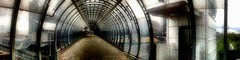 The Wood Between the Worlds (Matt Brock ☀) Tags: camera bridge panorama london poplar artistic grain atmospheric urbanlandscape poplardlrstation photofx dynamiclight photosynth iphone4 iphoneography