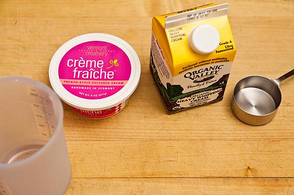 creme fraiche whipped cream