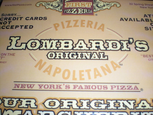 Lombardi's Pizza: NYC