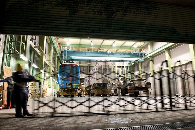 都営地下鉄大江戸線木場車庫 搬入口