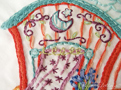 gypsy wagon detail (merwing✿little dear) Tags: carnival art wagon design pattern hand circus embroidery stitching gypsy