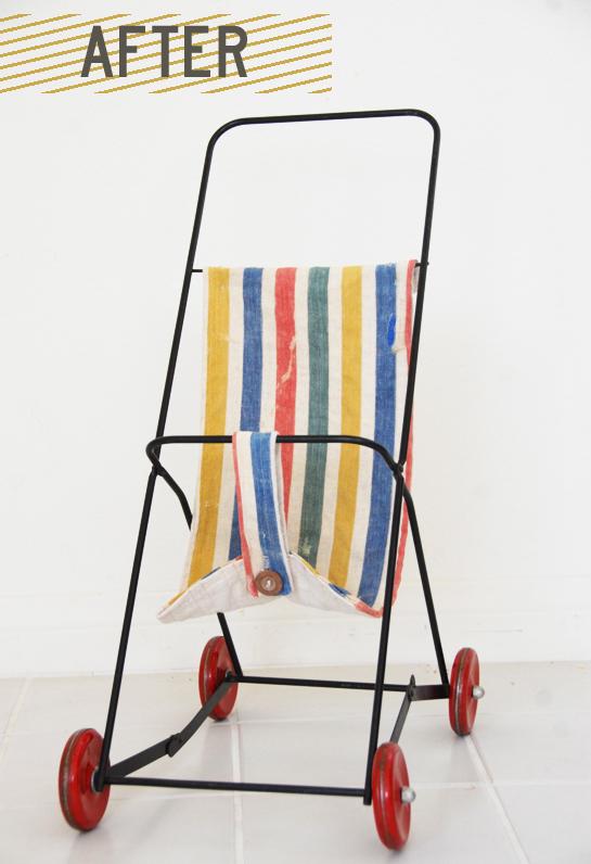 vintage stroller redo