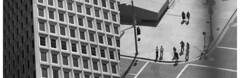Above (pigeonpie) Tags: california city two monochrome architecture america losangeles diptych downtown noir duo viewpoint combo