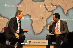 Sir Mark Tully and Robin Niblett (Chatham House, London) Tags: chathamhouse internationalrelations internationalaffairs royalinstituteofinternationalaffairs