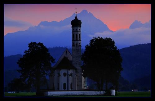 Abendstimmung im Schwangau. by Haldorfer