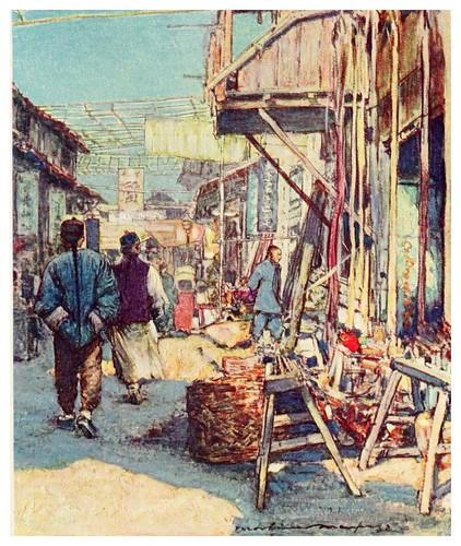019-Tipica escena callejera-China 1909- Mortimer Menpes