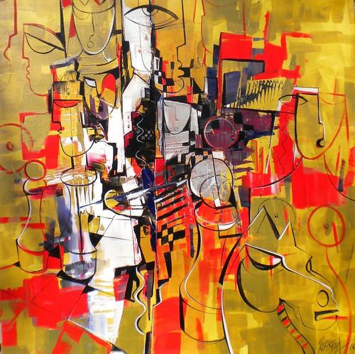Ganador  - Painting - Cubism