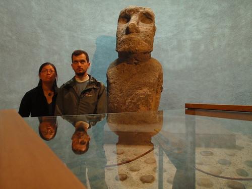 Rapa Nui statue, in La Serena archaeological museum