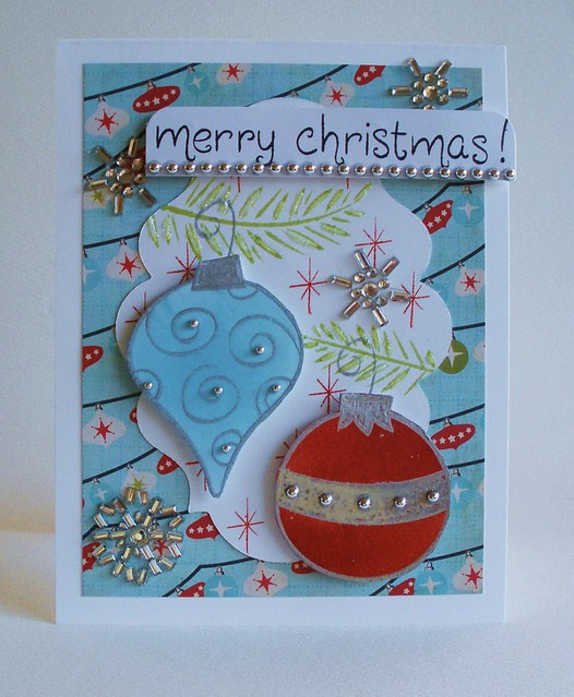 Retro Christmas-Lily Pad Cards