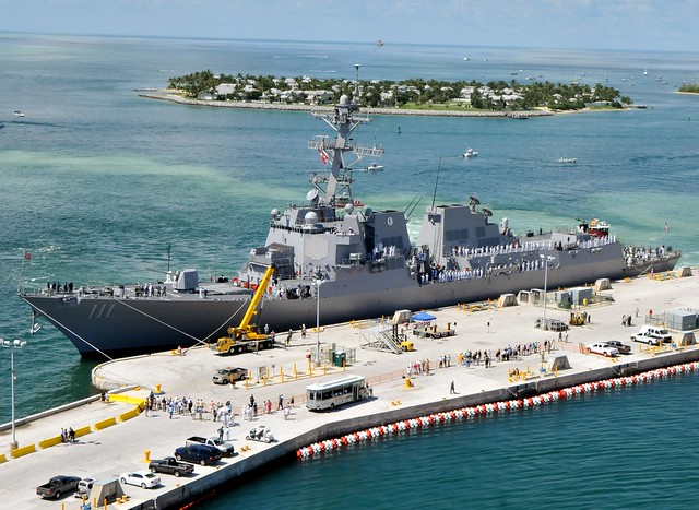 USS Spruance arrives at Naval Air Station Key West