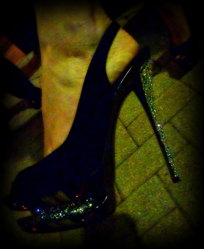 Glitzy Shoes by Nadine Charity