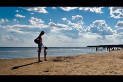 two... (Andrew Pushkar) Tags: sea summer sky sun nikon shadows mother silhouettes dreams send d40 koblevo