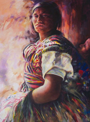 Mujer Fuerte de Mexico - Painting - Realism