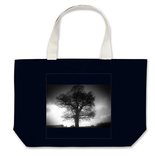 Bolsa grande árbol bn