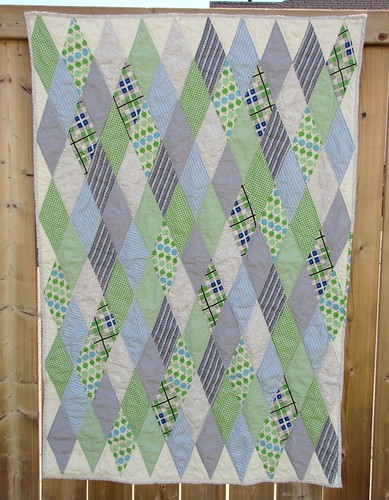 Blue Diamond Baby Quilt