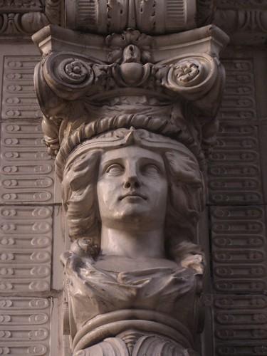 terra cotta column capital