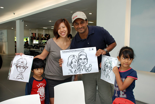 Caricature live sketching for Performance Premium Selection first year anniversary - day 3 - 5