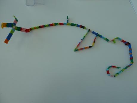 娘が作った「へび」 at パナソニックキッズスクール LaQ体験