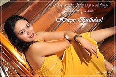 birthday girl (Rhannel Alaba) Tags: birthday city light portrait girl yellow speed lens happy photography nikon dress philippines cebu sugbo vr d90 minglanilla pido alaba 18105mm sb900 rhannel