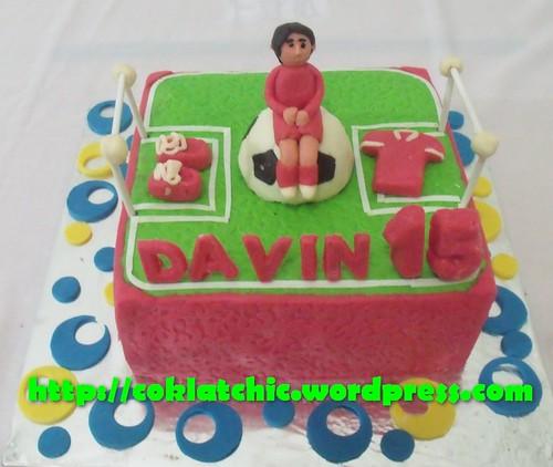Kue ulang tahun dengan tema Cake Lapangan Sepak Bola model ini mulai