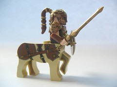 Custom LEGO Centaur (akunthita) Tags: customlego brickforge brickwarriors legocentaur