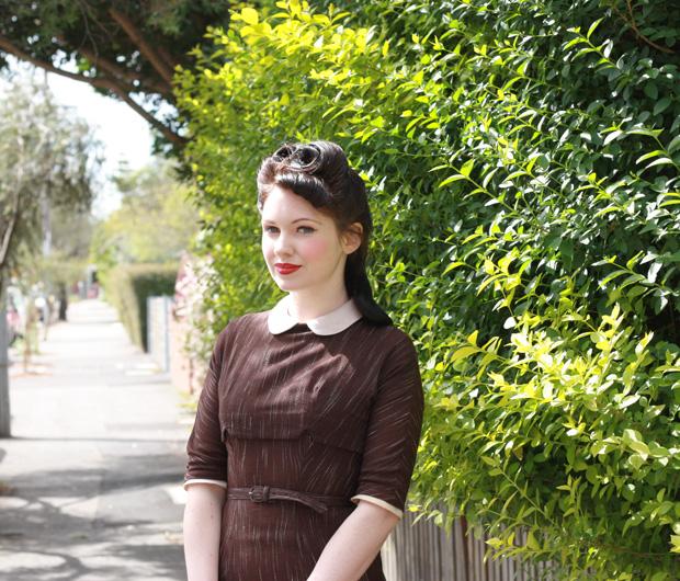 vintage forties dress c